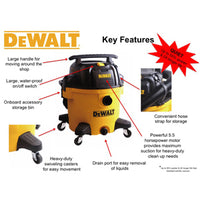 DXV10P DeWALT 10 Gallon Dual-Stage Poly Wet/Dry Vac