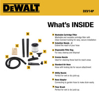 DXV14P DeWALT 14 Gallon Poly Wet/Dry Vac