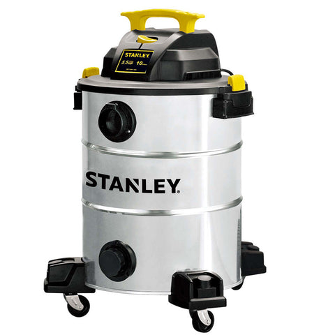 SL18156 - Stanley Wet/Dry Vacuum - 5.5 peak HP, 10 Gallon, Stainless Steel