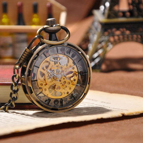 Montre mécanique Bronze Antique Fashion