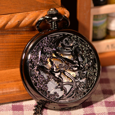 Montre mécanique Black Lover Birds