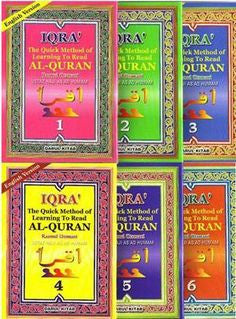 IQRA' The Quick Method of Learning To Read Al-Quran - As'ad Humam (6 Book Set)