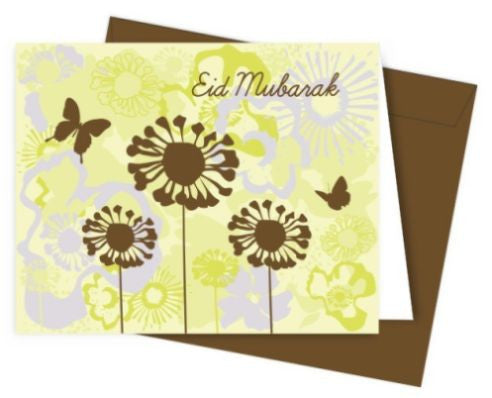 Eid Mubarak Card - English Script