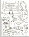 Colour in poster - Islamic Gardens