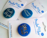Muslim Flair : Mini 3 Piece Gift Pack Badges (Mixed Designs)