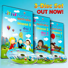 Little Explorers Australia DVD 3-Disc Set