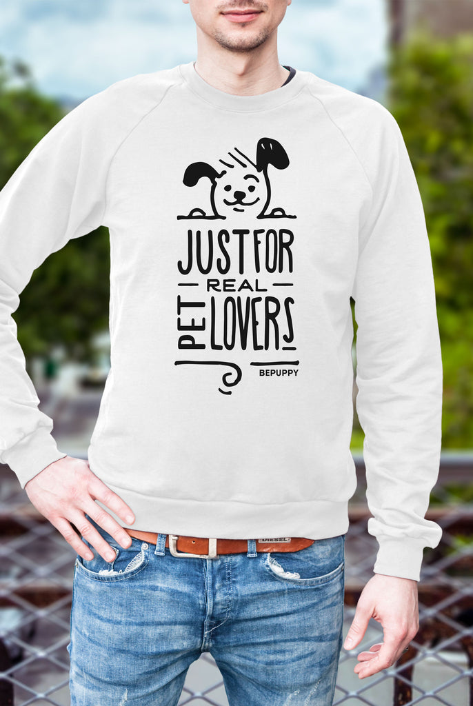 Men's sweaters crew neck, just for real pet lovers! - BEPUPPY