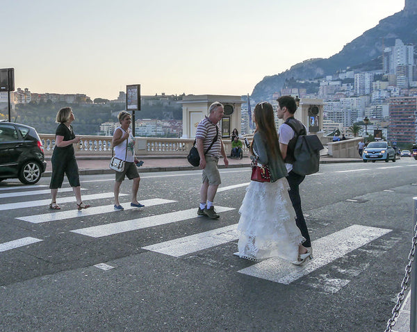 Monaco glittering and eye-catching street fashion