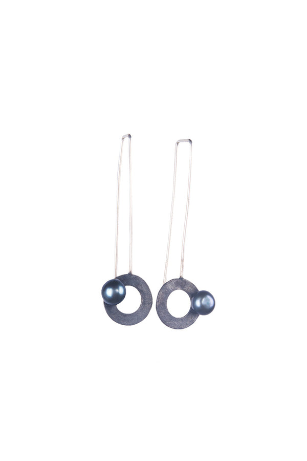 Round Shape Silver Earings