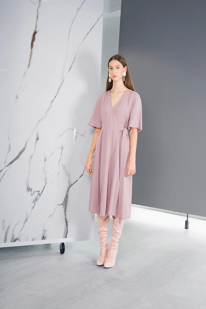 Ash Rose Silk & Wool Dress - Shopyte
