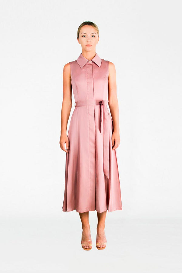Ash Rose Silk & Cotton Dress - Shopyte