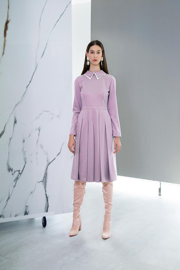 Lilac Virgin Wool Dress