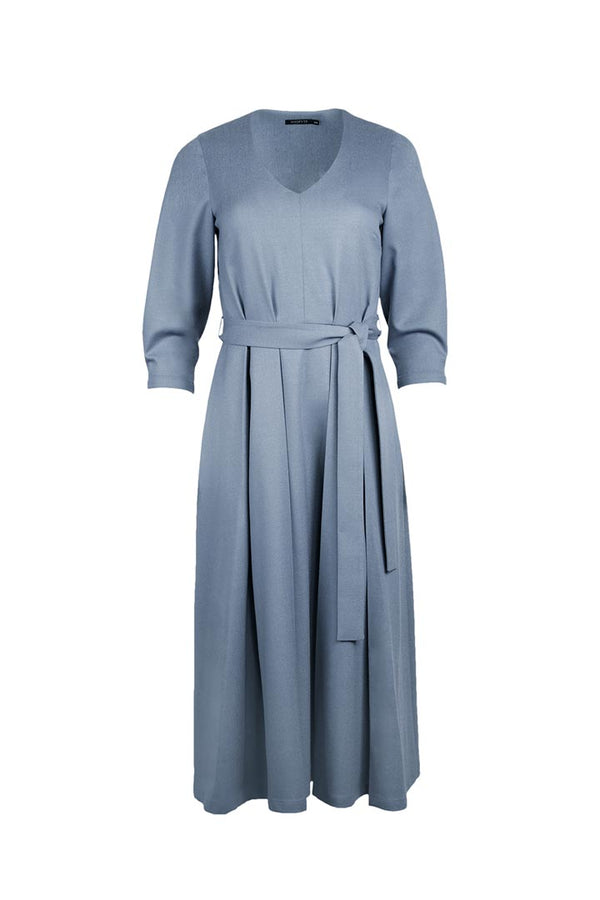 Pigeon Blue Virgin Wool Dress