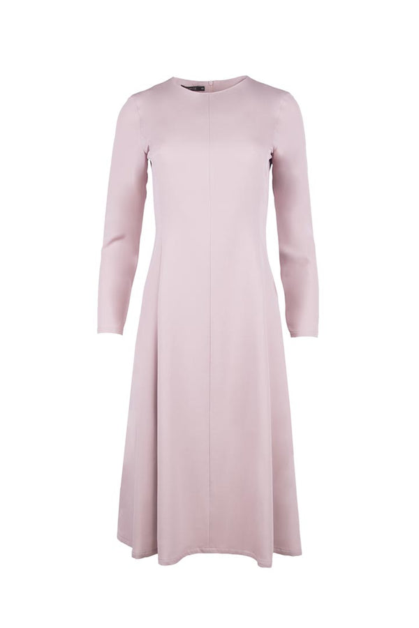 Ash Rose Silk & Wool Dress