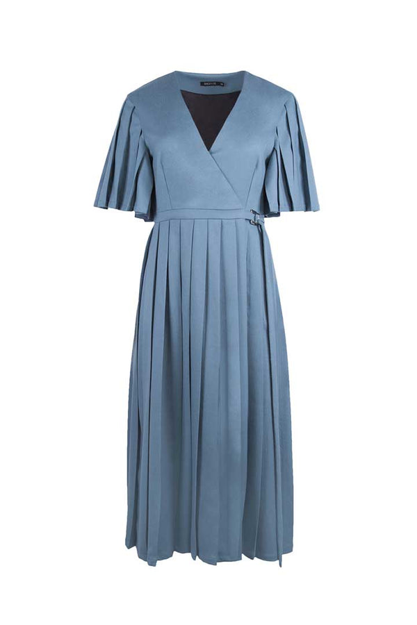 Turkish Blue Virgin Wool Dress