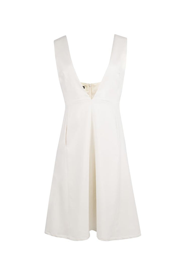 Crème Virgin Wool Dress