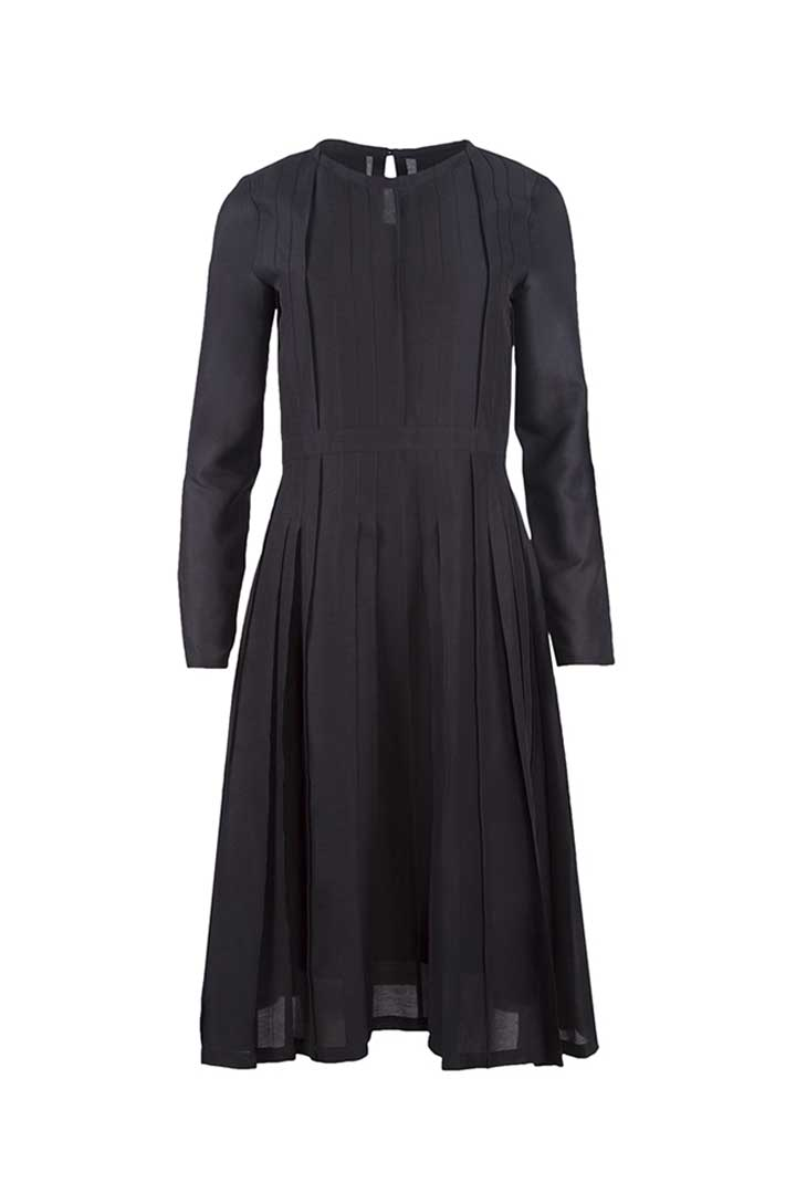 Black Silk & Cotton Dress - Shopyte