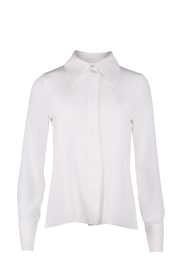 Egg Shell Silk Shirt - Shopyte