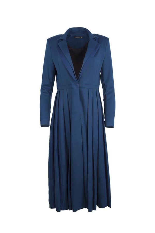 Cobalt Blue Virgin Wool Dress - Shopyte