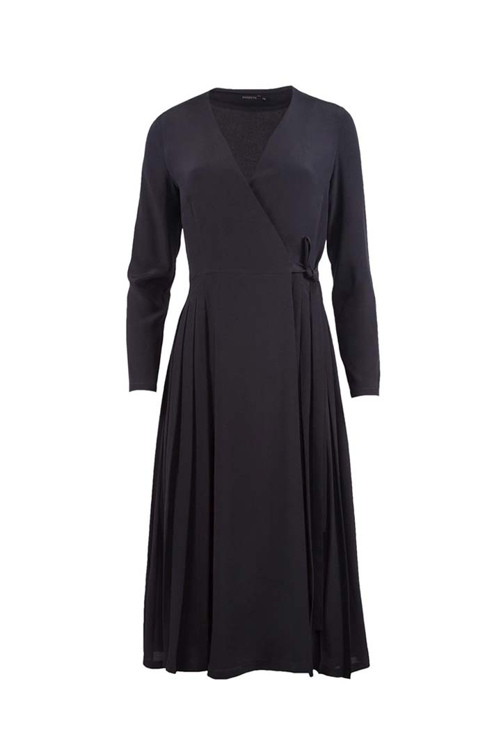 Black Silk Dress - Shopyte
