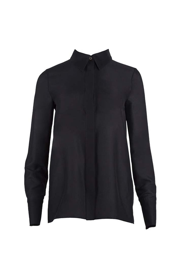 Black Silk & Cotton Shirt - Shopyte