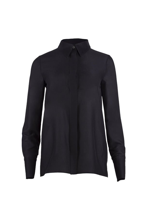 Black Silk & Cotton Shirt