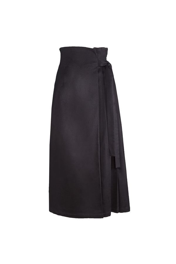 Black Baby Camel Skirt - Shopyte