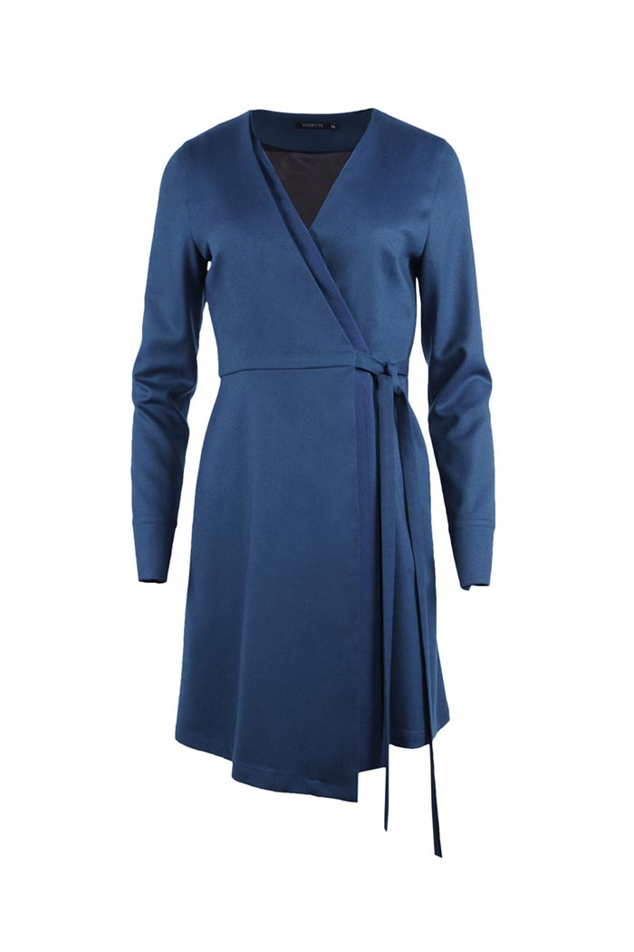 Cobalt Blue Virgin Wool Dress