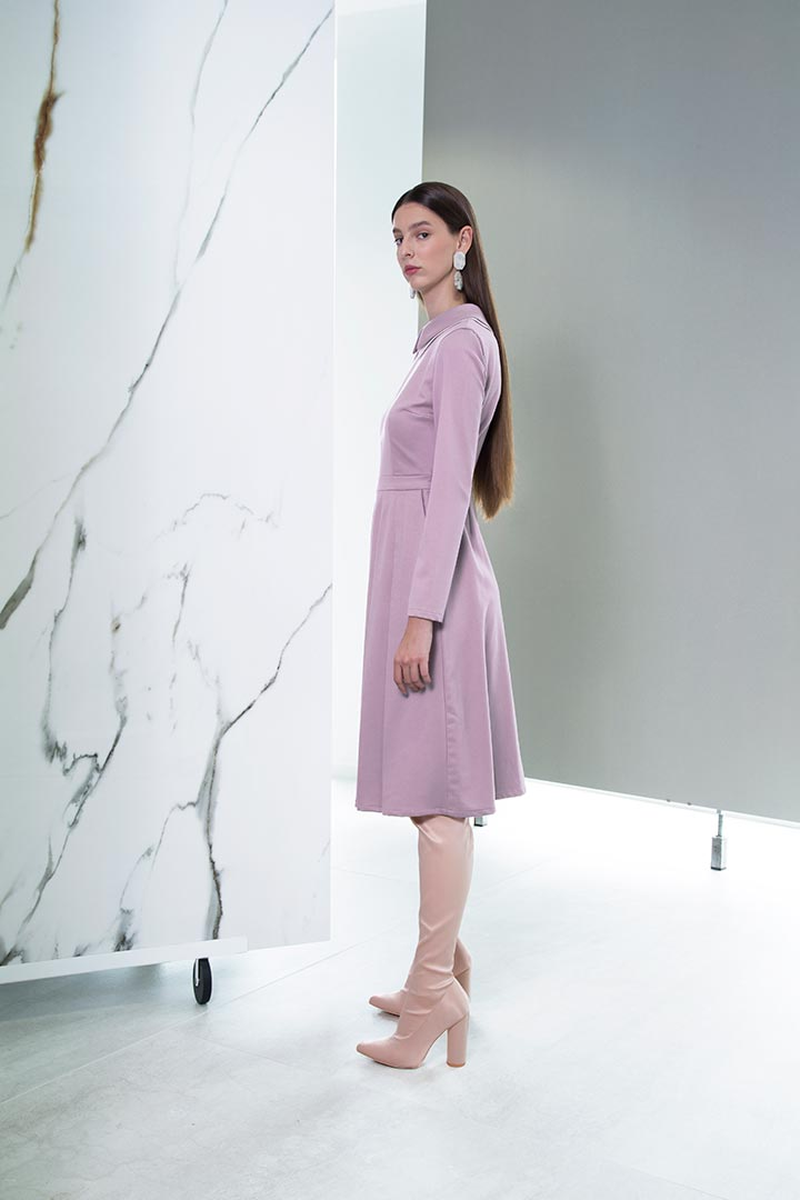 Lilac Virgin Wool Dress - Shopyte