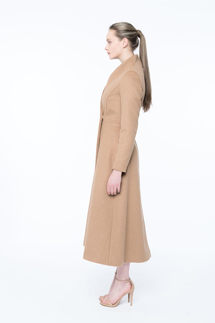 Peanut brown baby camel coat - Shopyte