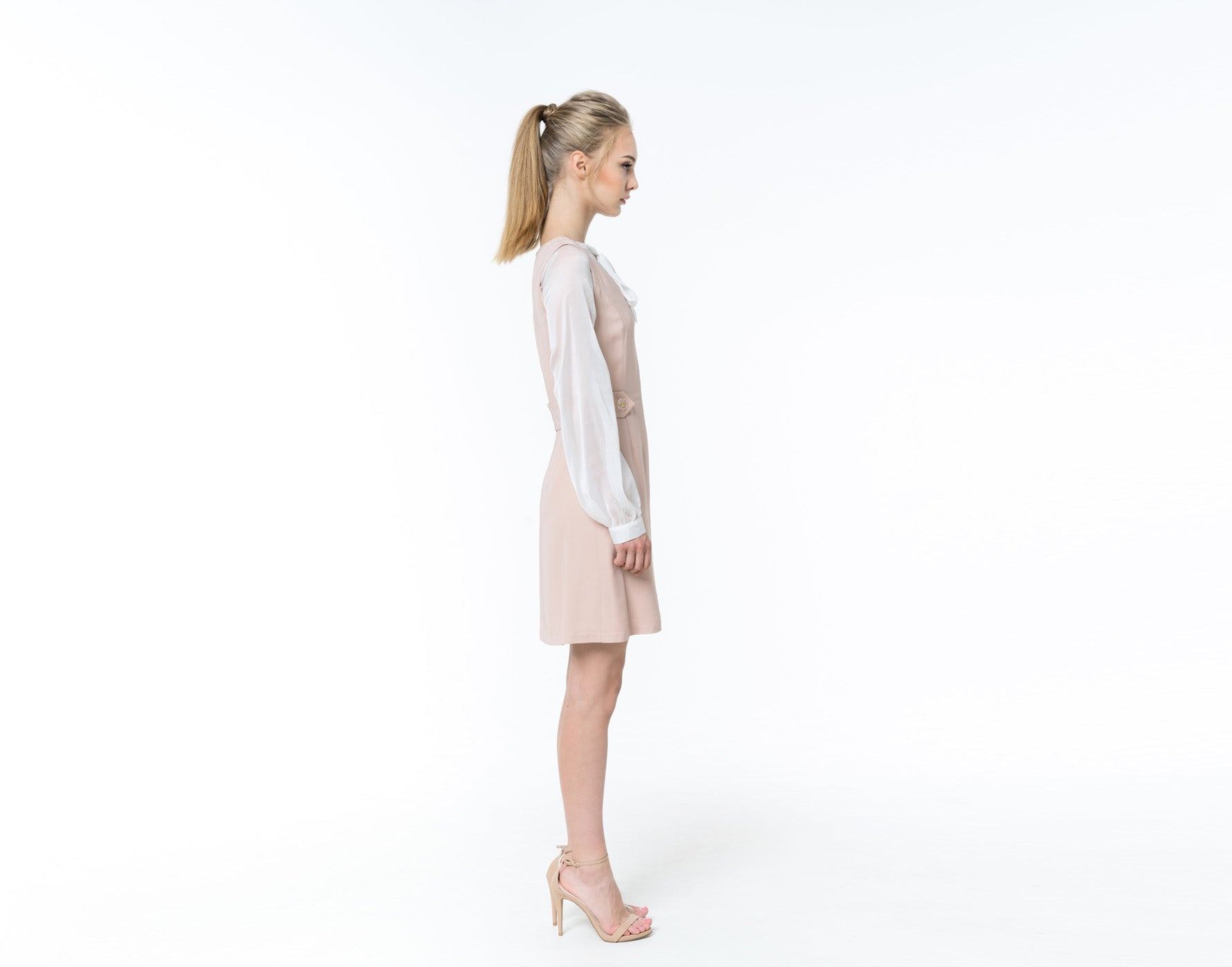 Powder pink silk dress - SHOPyte