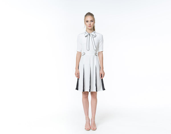 White silk dress - Shopyte