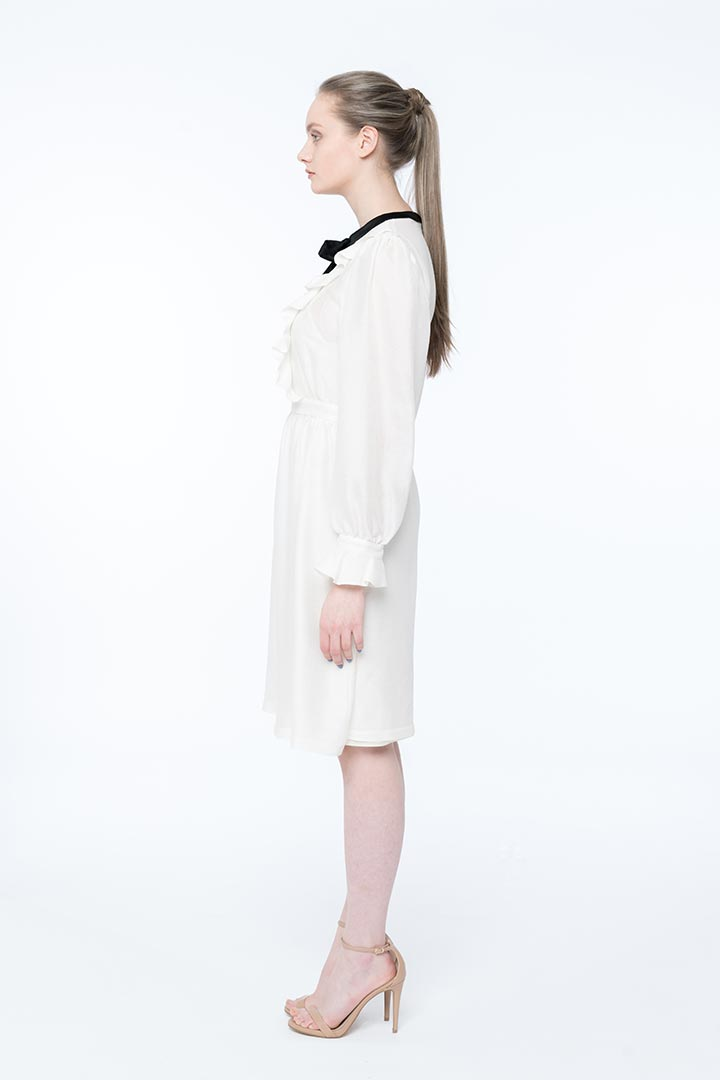 Pearl White Silk Dress - Shopyte