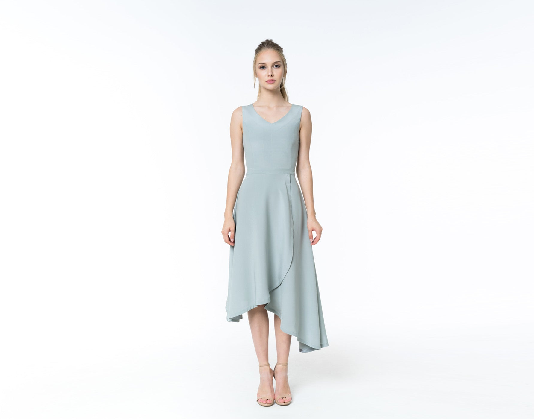 Oxydized green silk dress - Shopyte