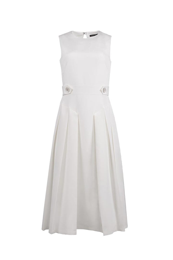Daisy White Silk & Cotton Dress