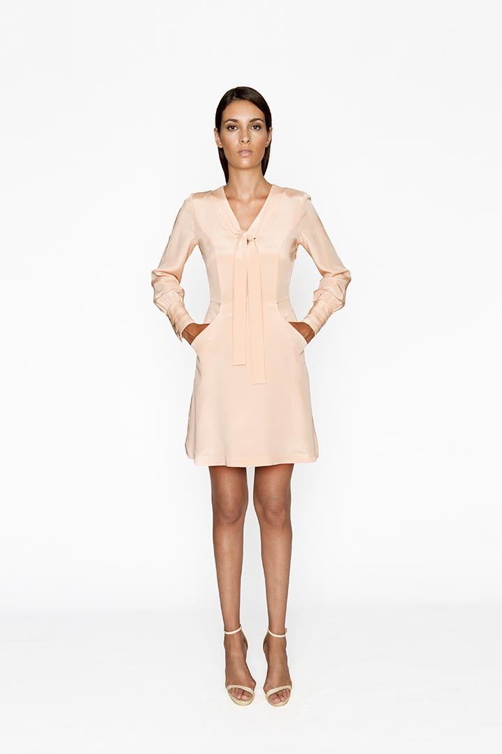 Baby Pink Silk Dress - Shopyte