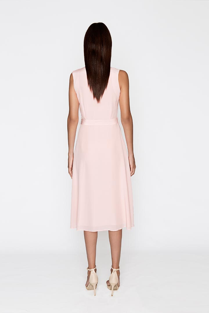 Carnation Pink Silk Dress - Shopyte