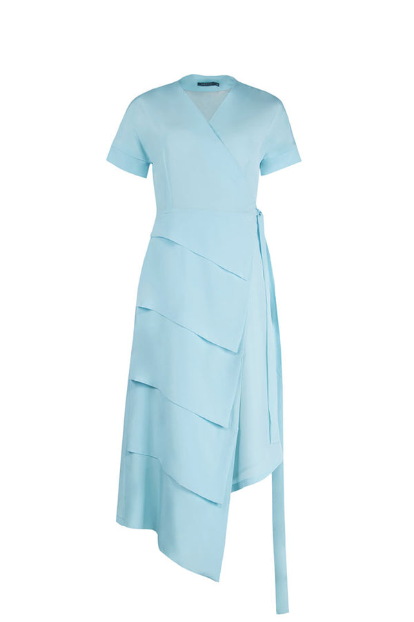 Mint Blue Silk Dress