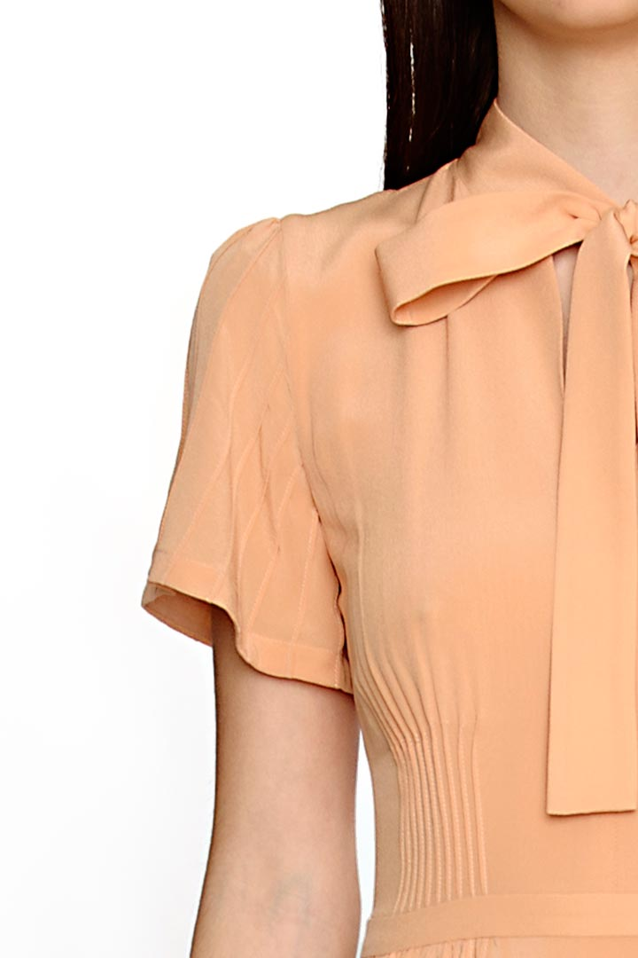 Sherbert Orange Silk Dress - Shopyte