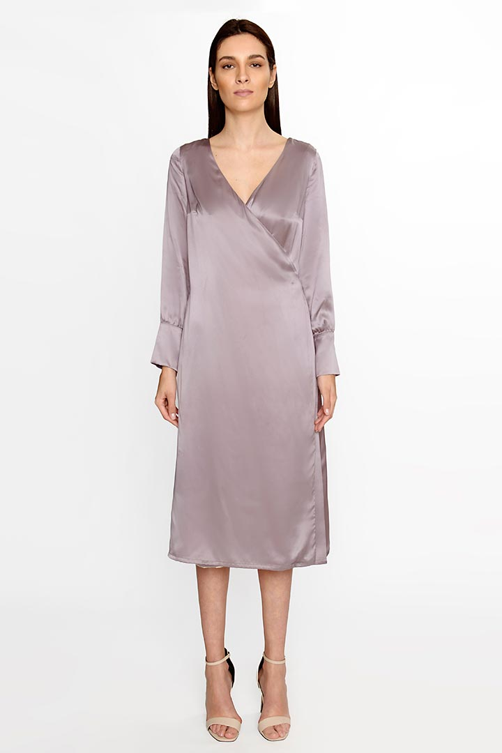 Anchor Grey Silk Dress - Shopyte