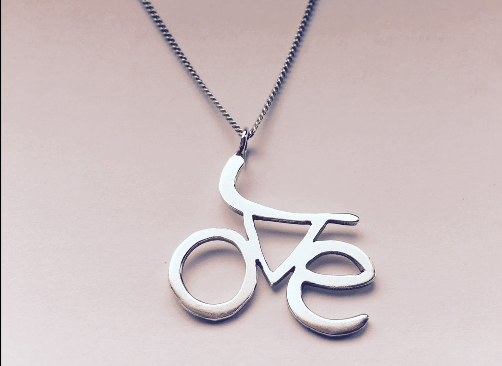 Silver LOVE Cycling Pendant