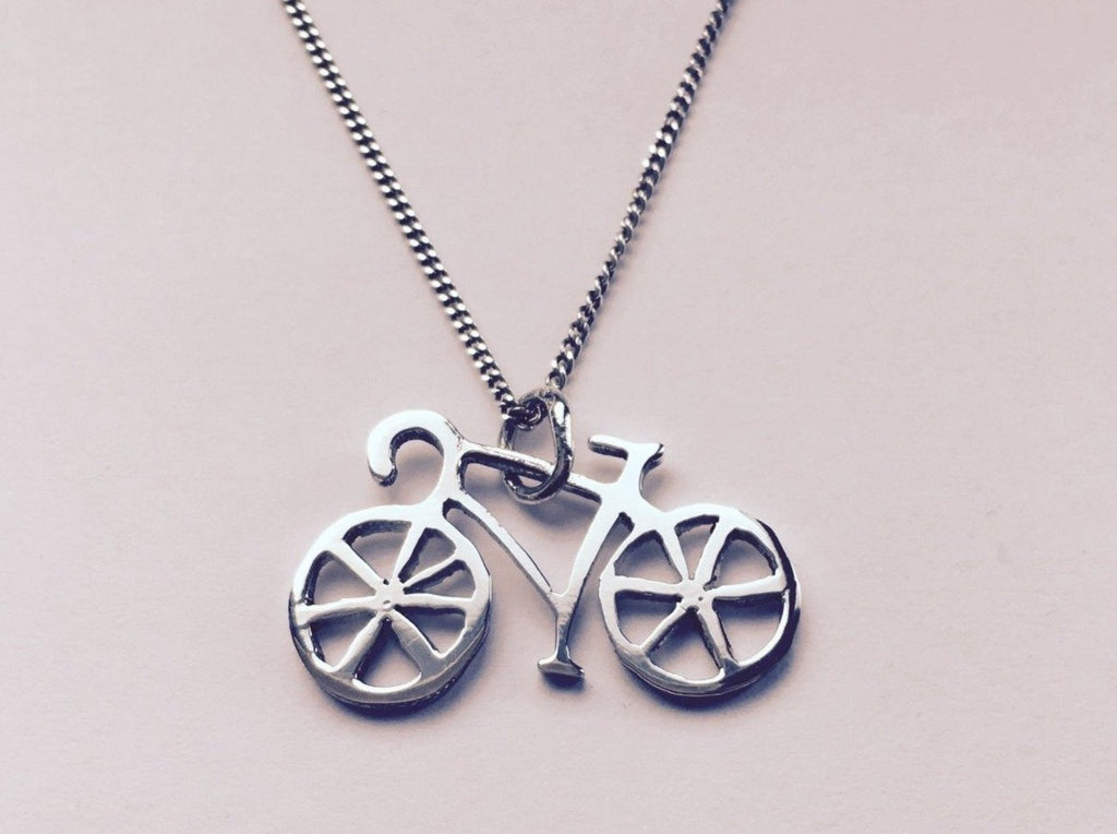 Silver Cycling Pendant 03