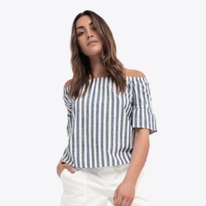 Life & Divine, Natalia Stripe off Shoulder