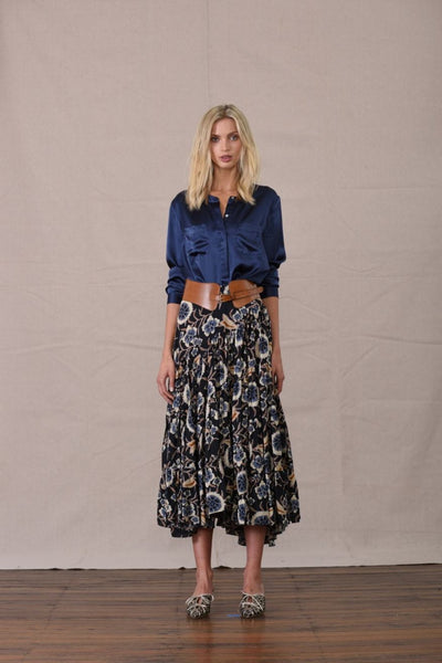 CLAUDETTE TIERED SKIRT ACRON PRINT