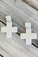 SO SUBLIME CROSSES EARRINGS SNOW
