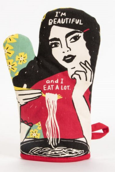 I'M BEAUTIFUL & I EAT A LOT OVEN MITT