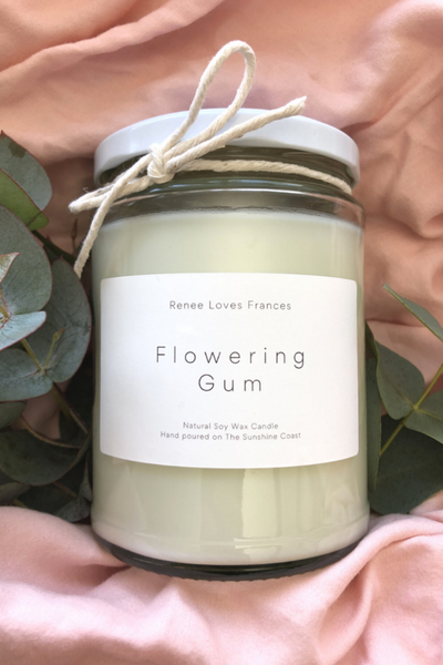 FLOWERING GUM LARGE CANDLE 500G