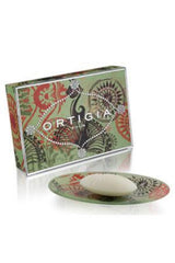 ORTIGIA SICILIA GLASS DISH & SOAP SET FICO D'INDIA