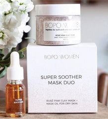 BOPO WOMEN ROSE PINK CLAY MASK + OIL