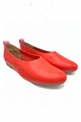HIGH TAIL BALLET FLATS TALL POPPY